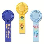 Fun Rosette Award Ribbon Baseball Award Trophies