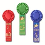 Scholastic Rosette Award Ribbon Basketball Award Trophies