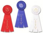 Classic Three Streamer Rosette Award Ribbon Bowling Award Trophies
