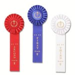 Classic Single Streamer Rosette Award Ribbon Bowling Award Trophies