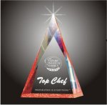 Multi Faceted Pyramid Acrylic Award Colored Acrylic Awards