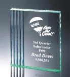Fluted Side Acrylic Award Traditional Acrylic Awards - Our Best Sellers