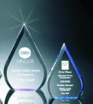 Beveled Teardrop Acrylic Award Traditional Acrylic Awards - Our Best Sellers